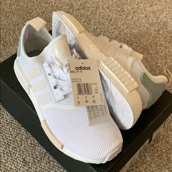 Adidas NMD R1 White Tactile Green US 9.5 or UK 8